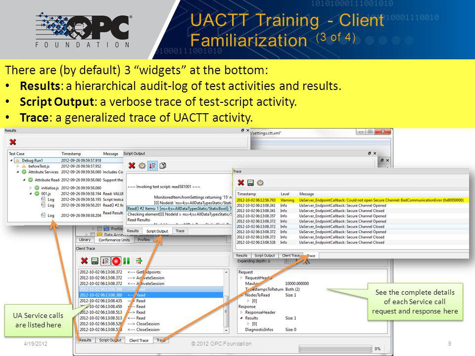UACTT Training - Client Familiarization (3 of 4)