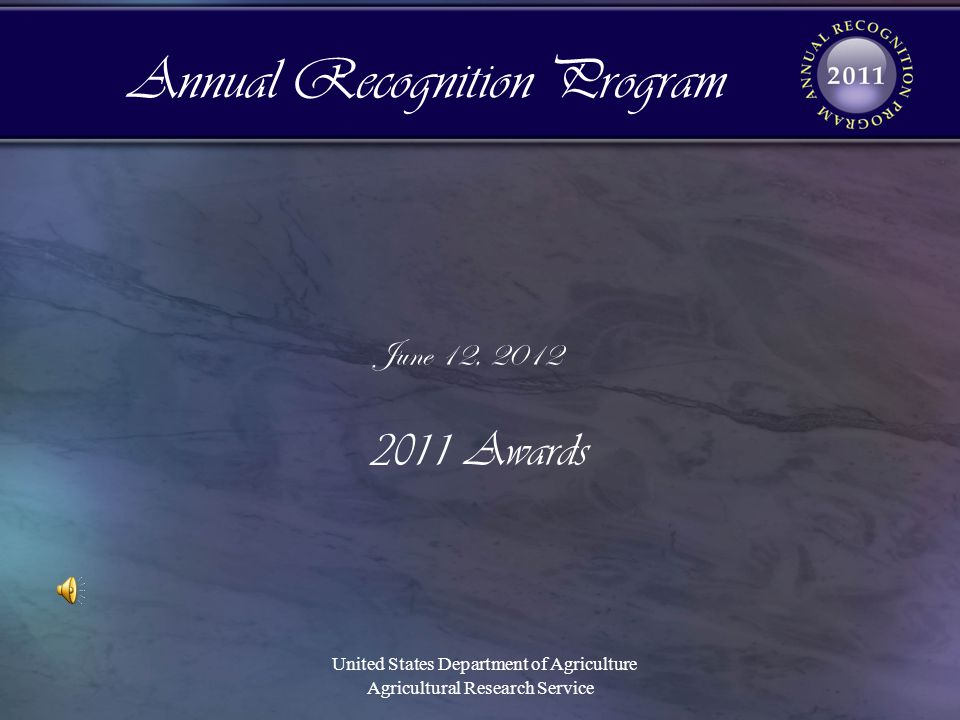 Annual Recognition Program