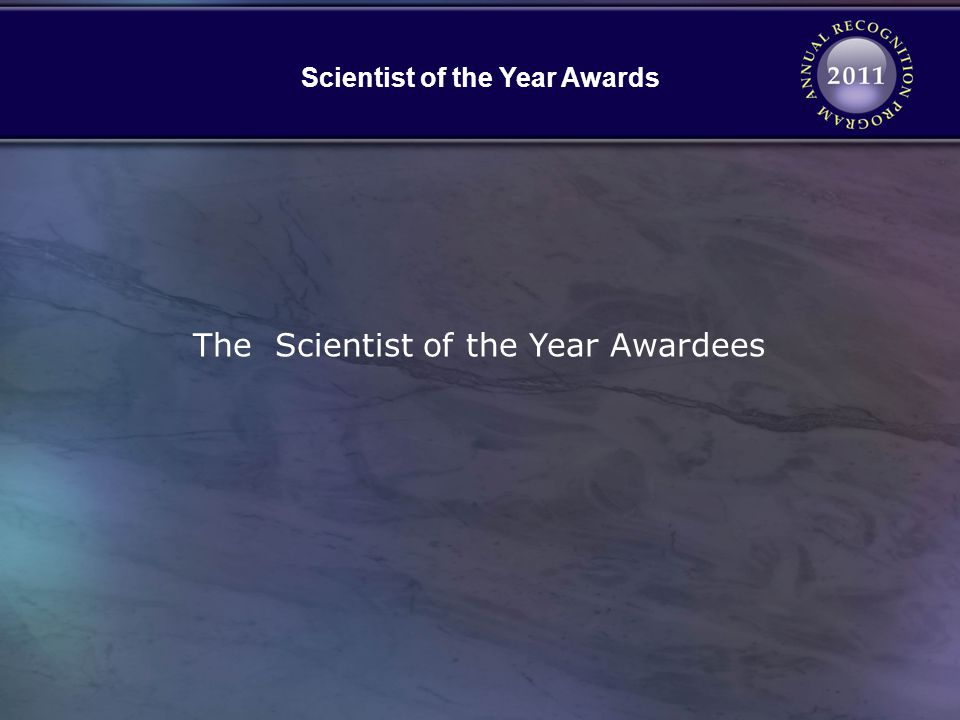 Scientist of the Year Awards