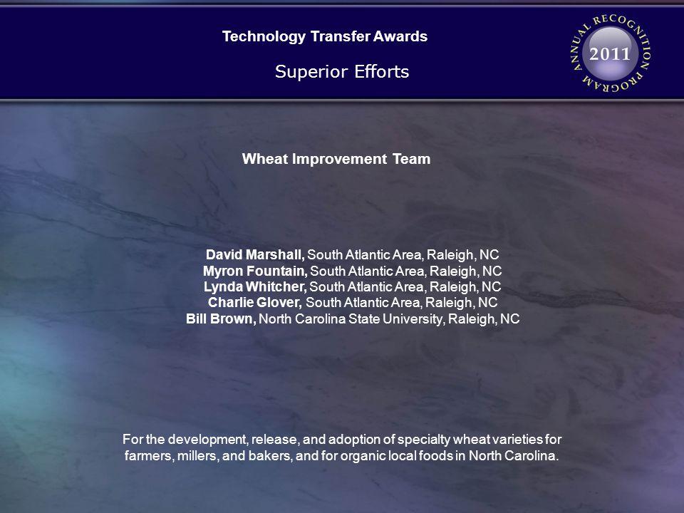 Technology Transfer Awards Wheat Improvement Team