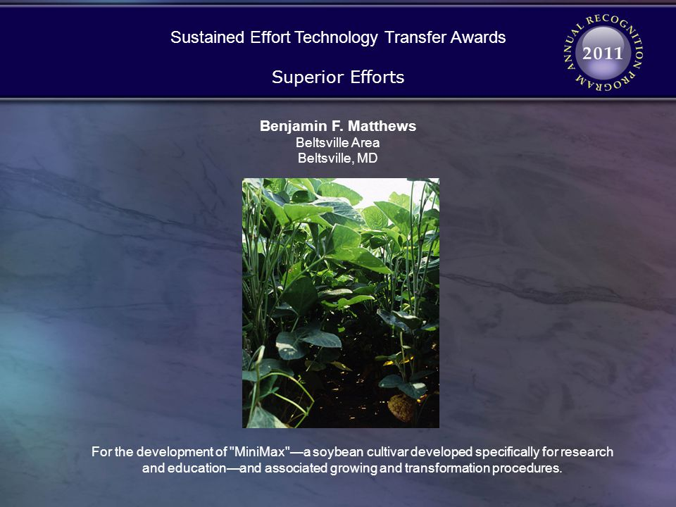 Sustained Effort Technology Transfer Awards