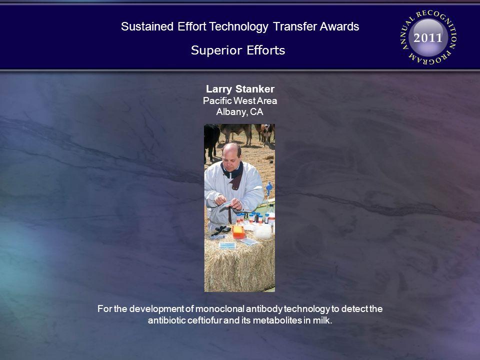 Sustained Effort Technology Transfer Awards