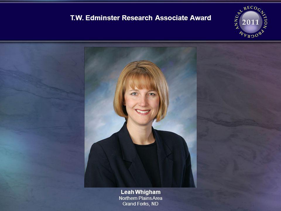 T.W. Edminster Research Associate Award