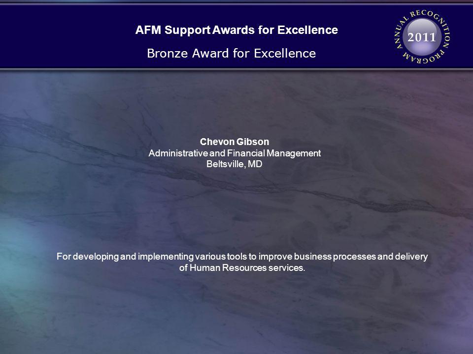 AFM Support Awards for Excellence