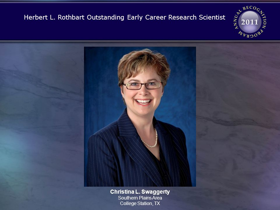 Herbert L. Rothbart Outstanding Early Career Research Scientist