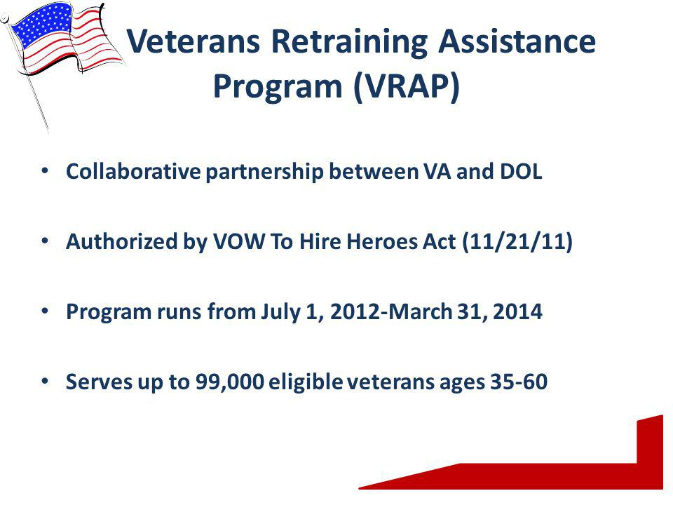 Veterans Retraining Assistance Program (VRAP)