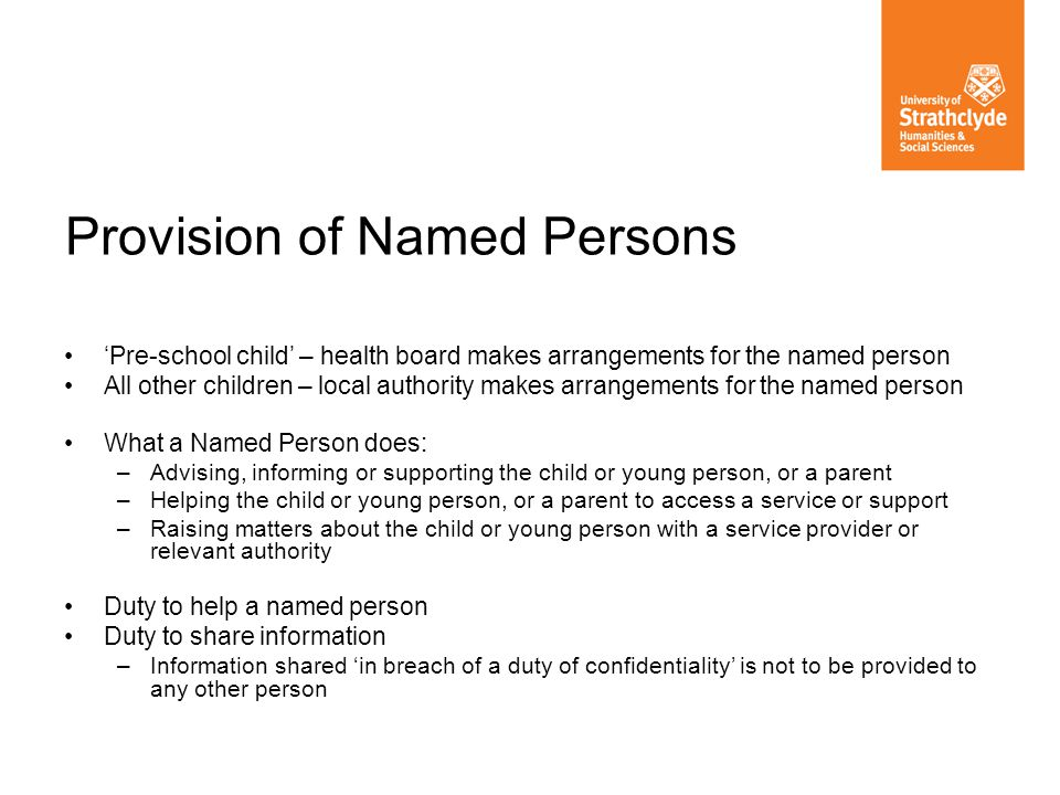 Provision of Named Persons