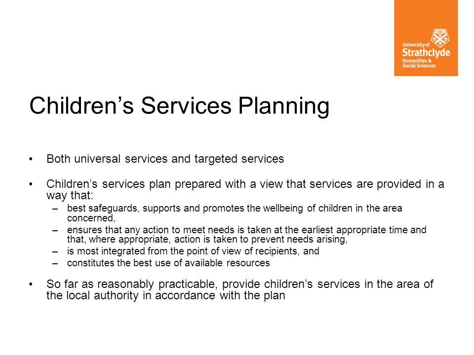 Children's Services Planning