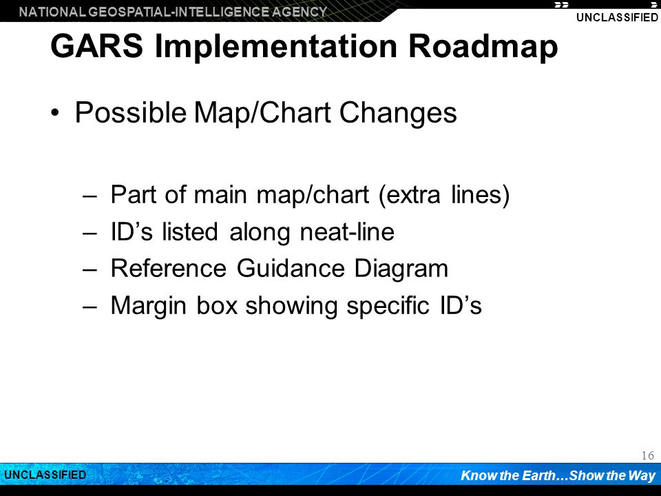 GARS Implementation Roadmap