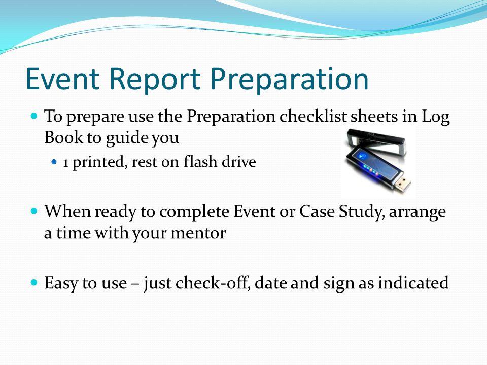 Event Report Preparation