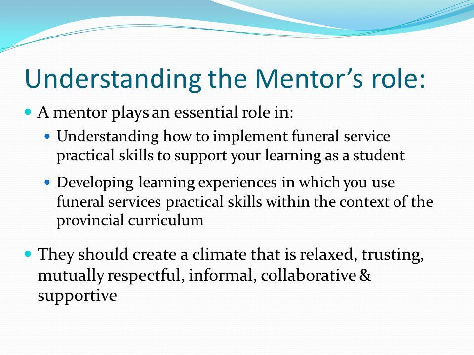 Understanding the Mentor's role: