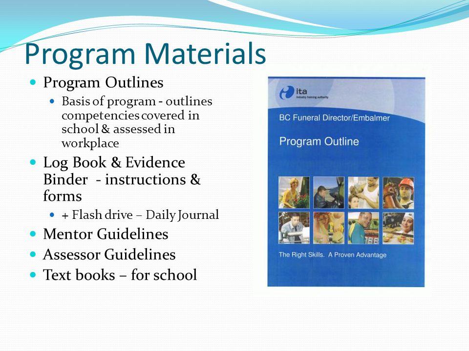Program Materials Program Outlines