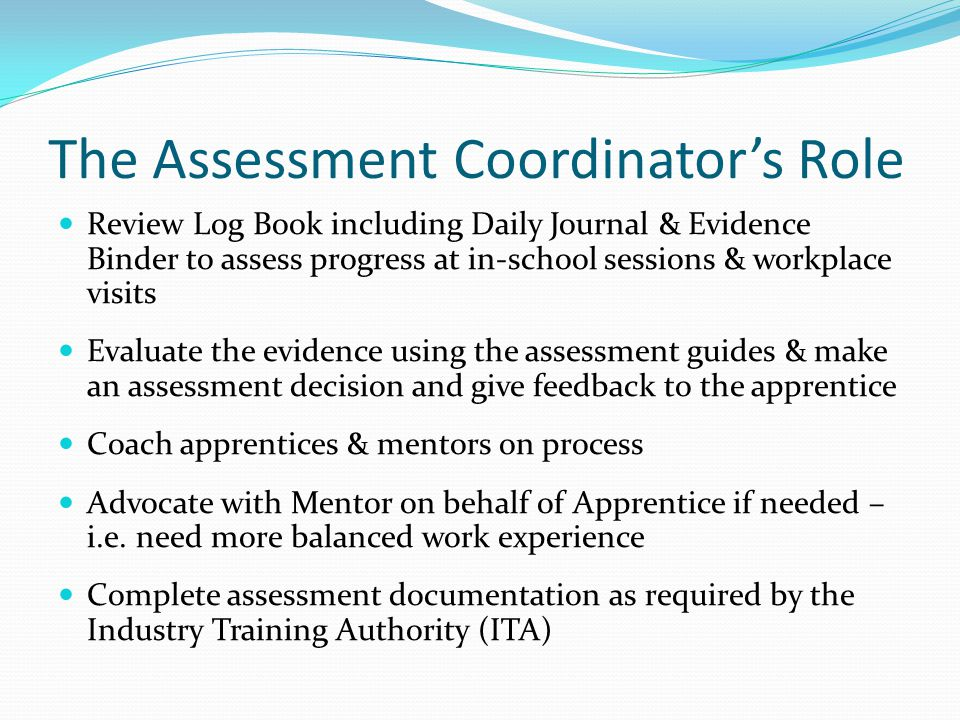 The Assessment Coordinator's Role