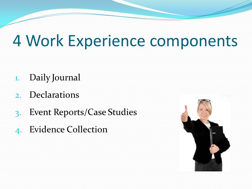 4 Work Experience components