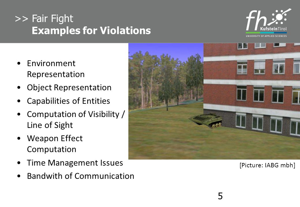 >> Fair Fight Examples for Violations