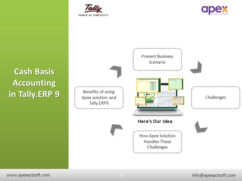 Cash Basis Accounting in Tally.ERP 9