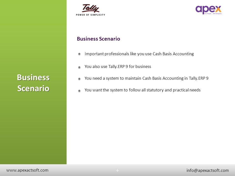 Business Scenario Business Scenario + +