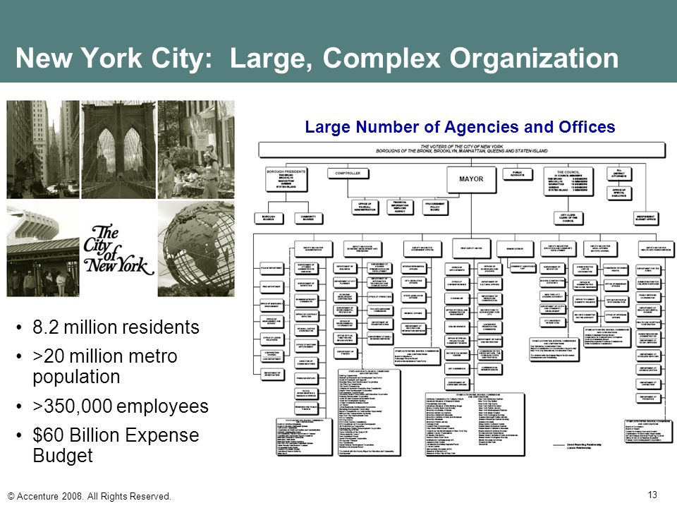 New York City: Large, Complex Organization