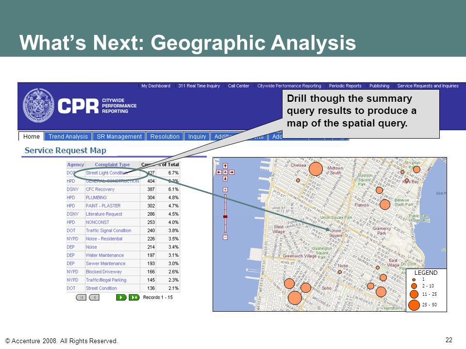 What's Next: Geographic Analysis