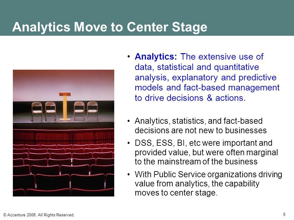 Analytics Move to Center Stage