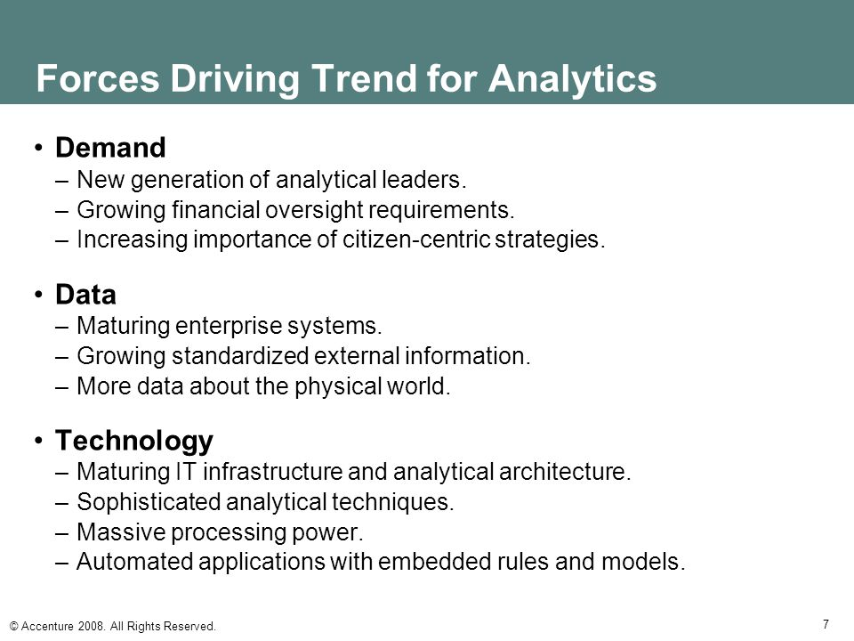Forces Driving Trend for Analytics