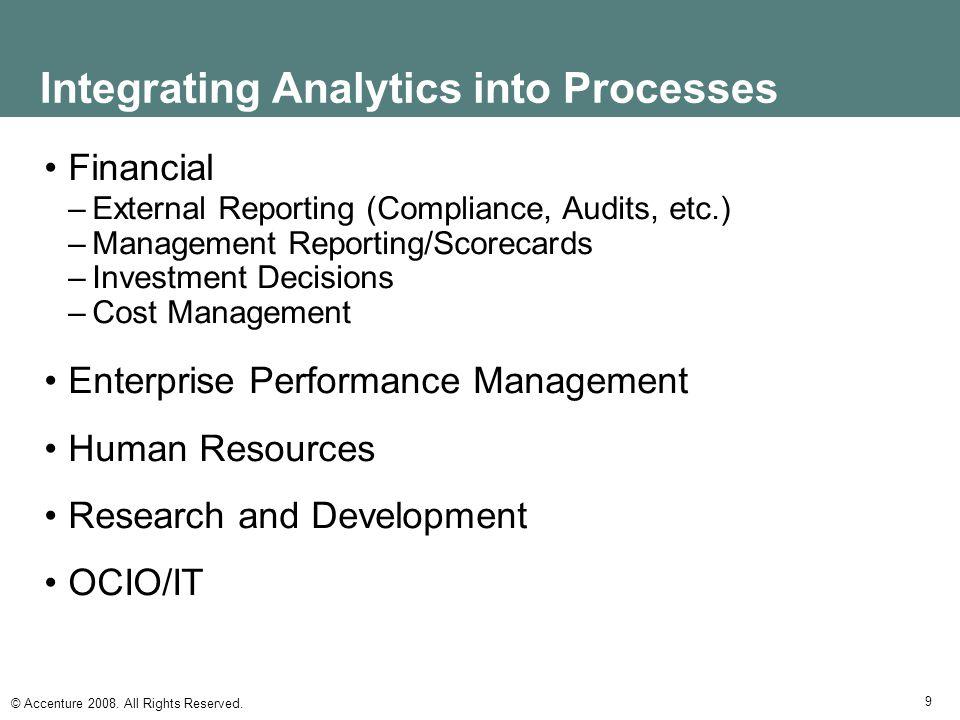 Integrating Analytics into Processes