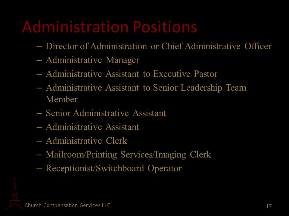 Administration Positions