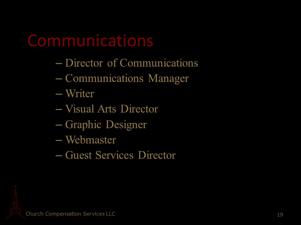 Communications Director of Communications Communications Manager