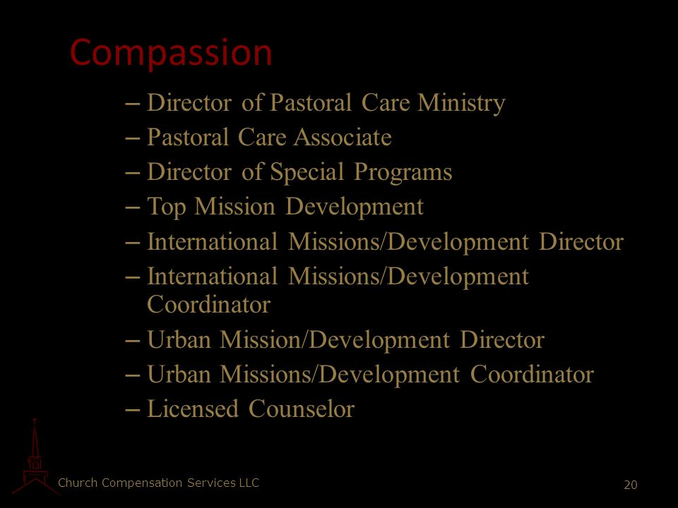 Compassion Director of Pastoral Care Ministry Pastoral Care Associate