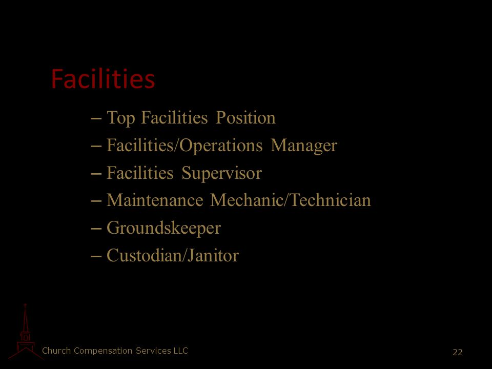 Facilities Top Facilities Position Facilities/Operations Manager
