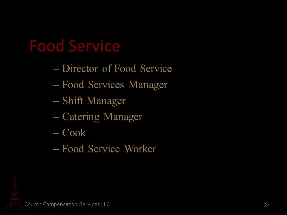 Food Service Director of Food Service Food Services Manager