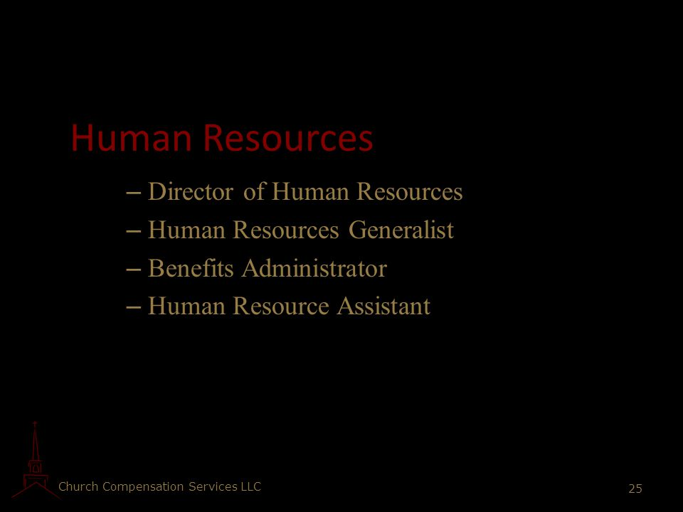 Human Resources Director of Human Resources Human Resources Generalist