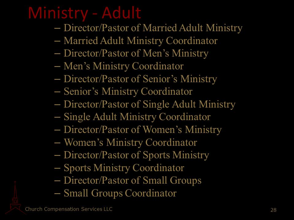 Ministry - Adult Director/Pastor of Married Adult Ministry