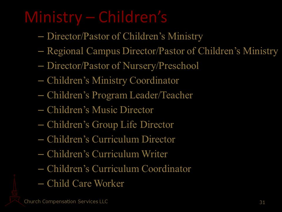 Ministry – Children's Director/Pastor of Children's Ministry