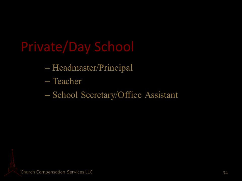 Private/Day School Headmaster/Principal Teacher