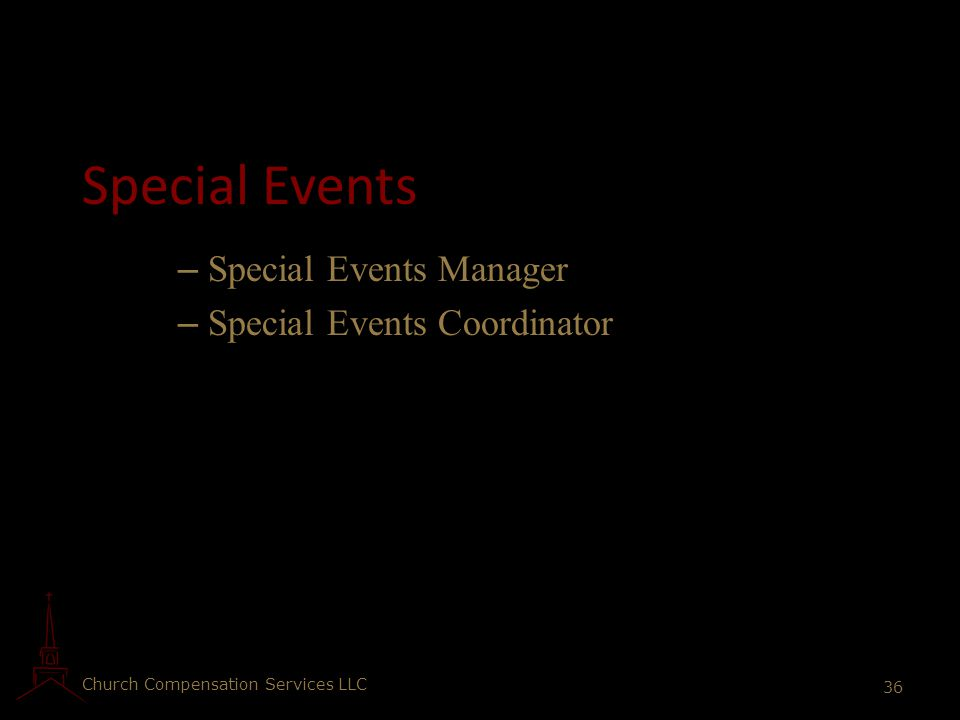 Special Events Special Events Manager Special Events Coordinator