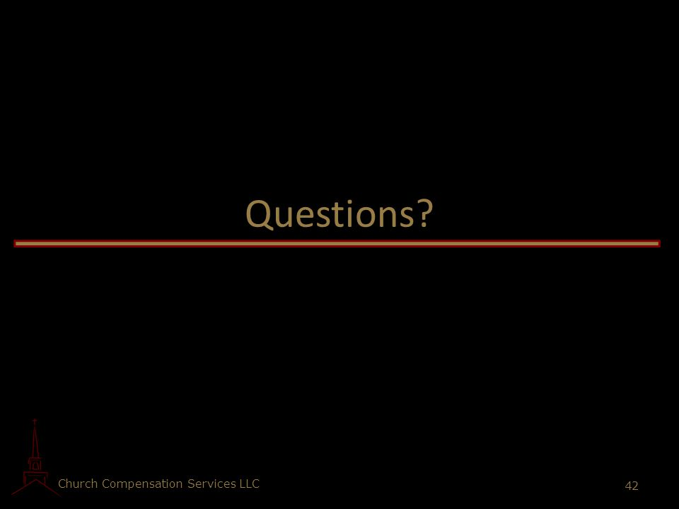 Questions Church Compensation Services LLC