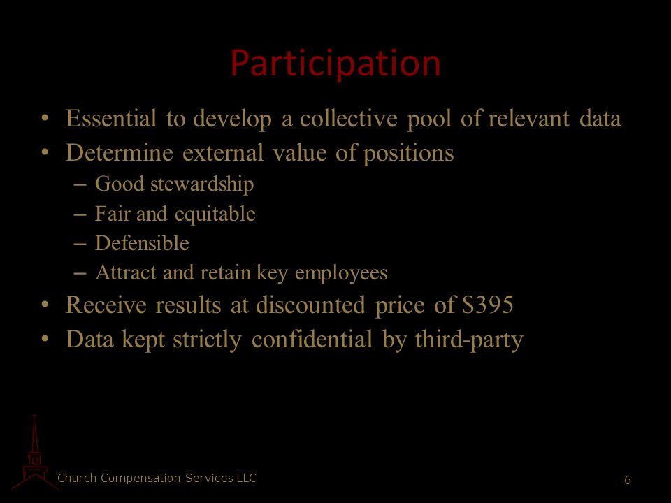 Participation Essential to develop a collective pool of relevant data