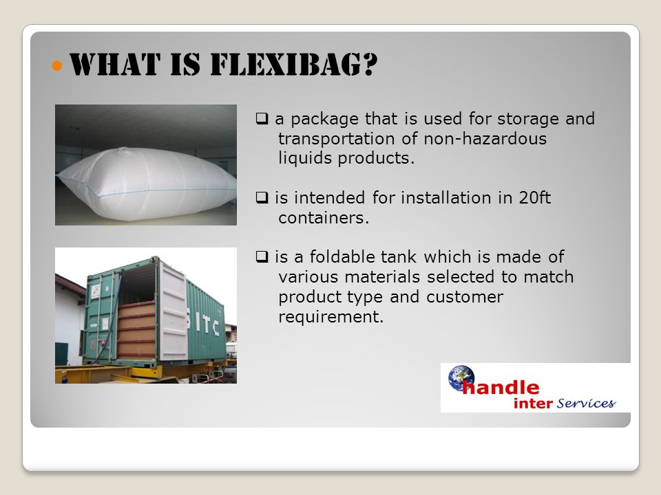 What is Flexibag a package that is used for storage and