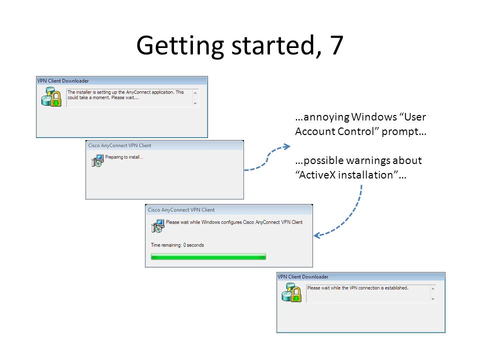 Getting started, 7 …annoying Windows User Account Control prompt…