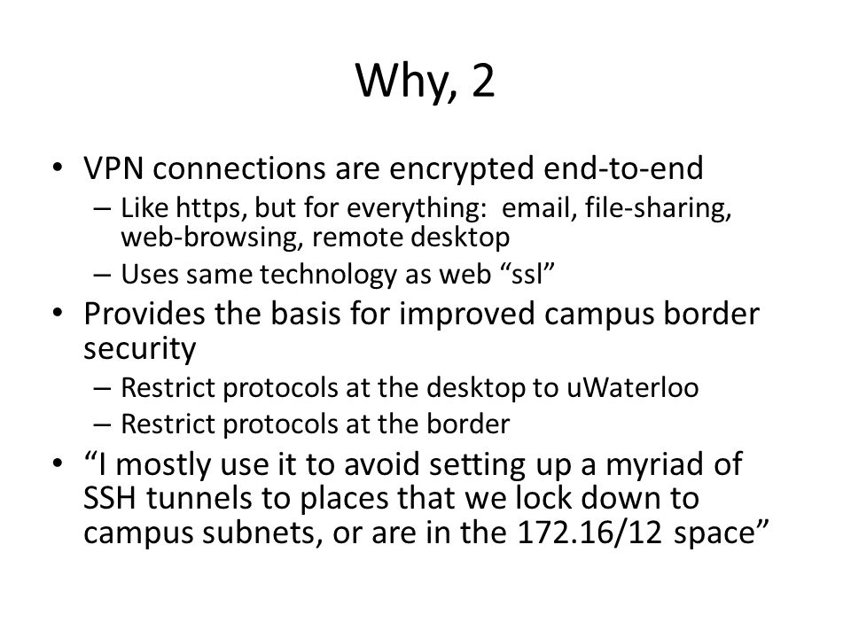 Why, 2 VPN connections are encrypted end-to-end