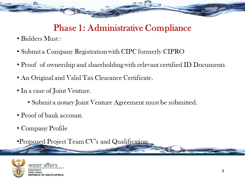 Phase 1: Administrative Compliance