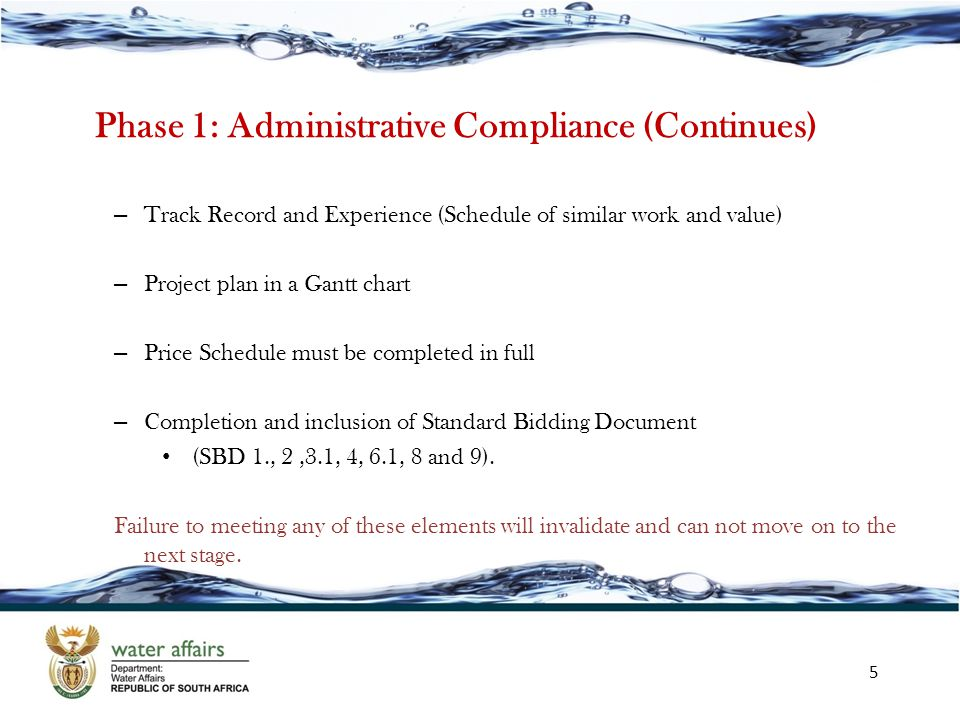 Phase 1: Administrative Compliance (Continues)