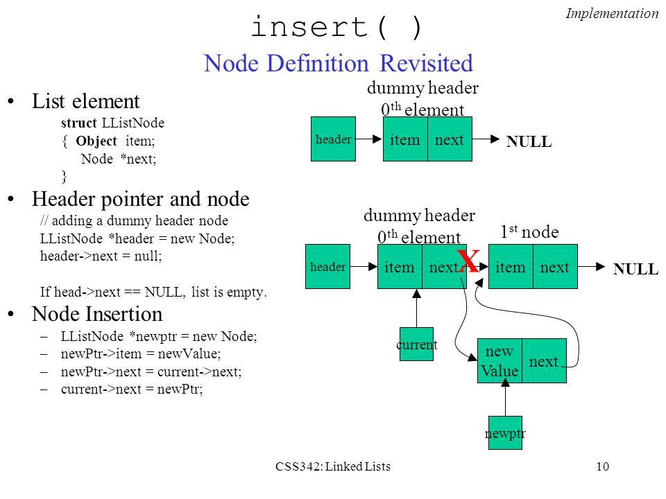 insert( ) Node Definition Revisited