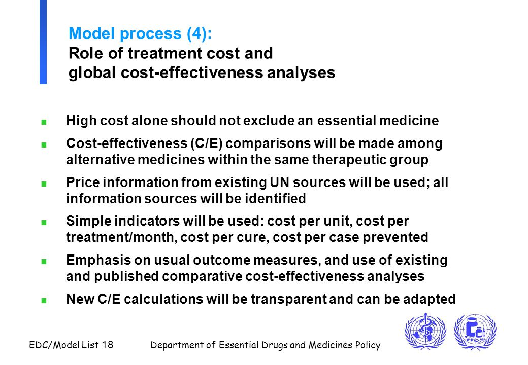 Model process (4): Role of treatment cost and global cost-effectiveness analyses