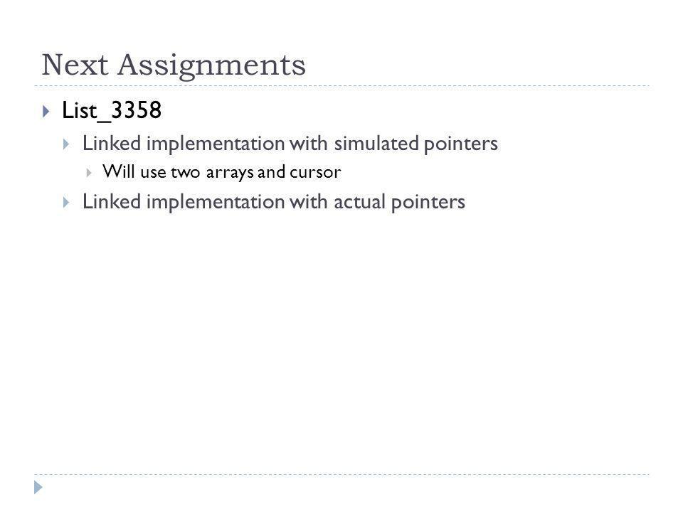 Next Assignments List_3358