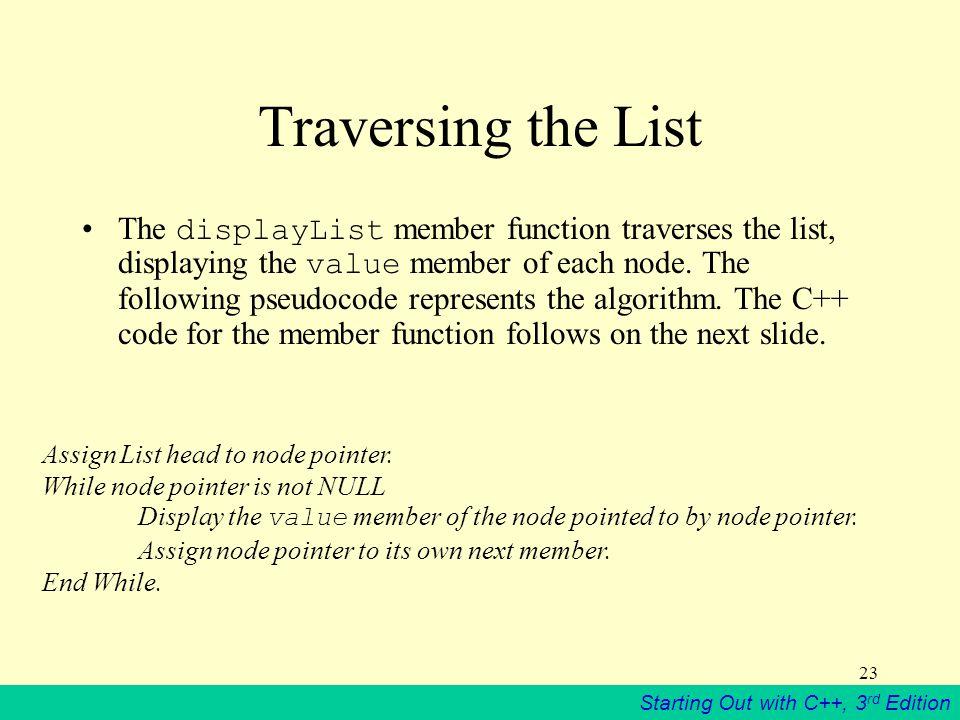 Traversing the List