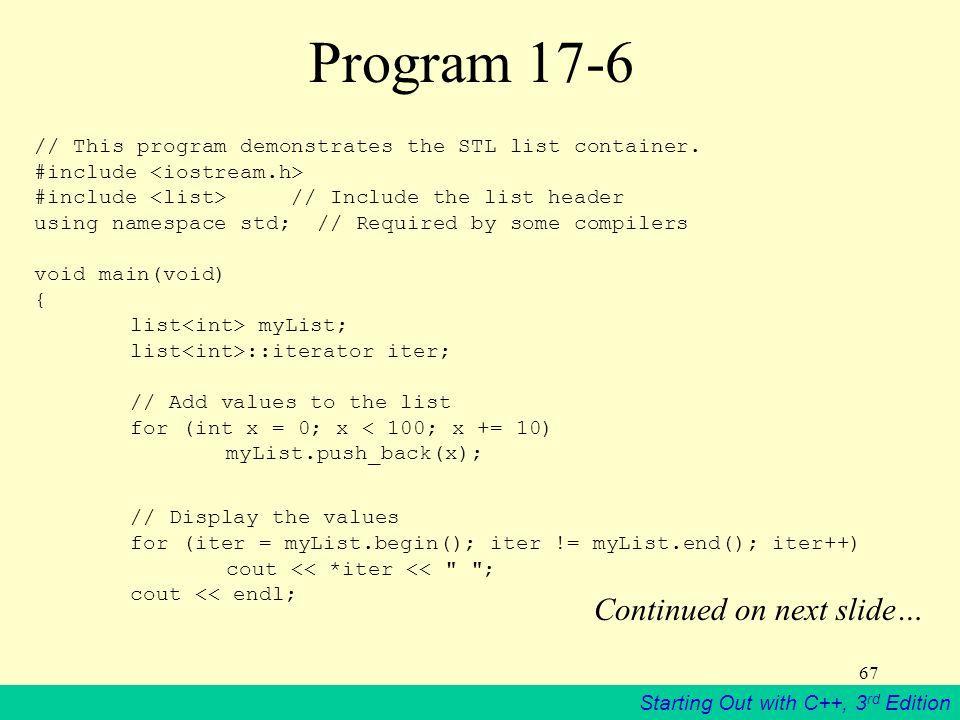 Program 17-6 Continued on next slide…