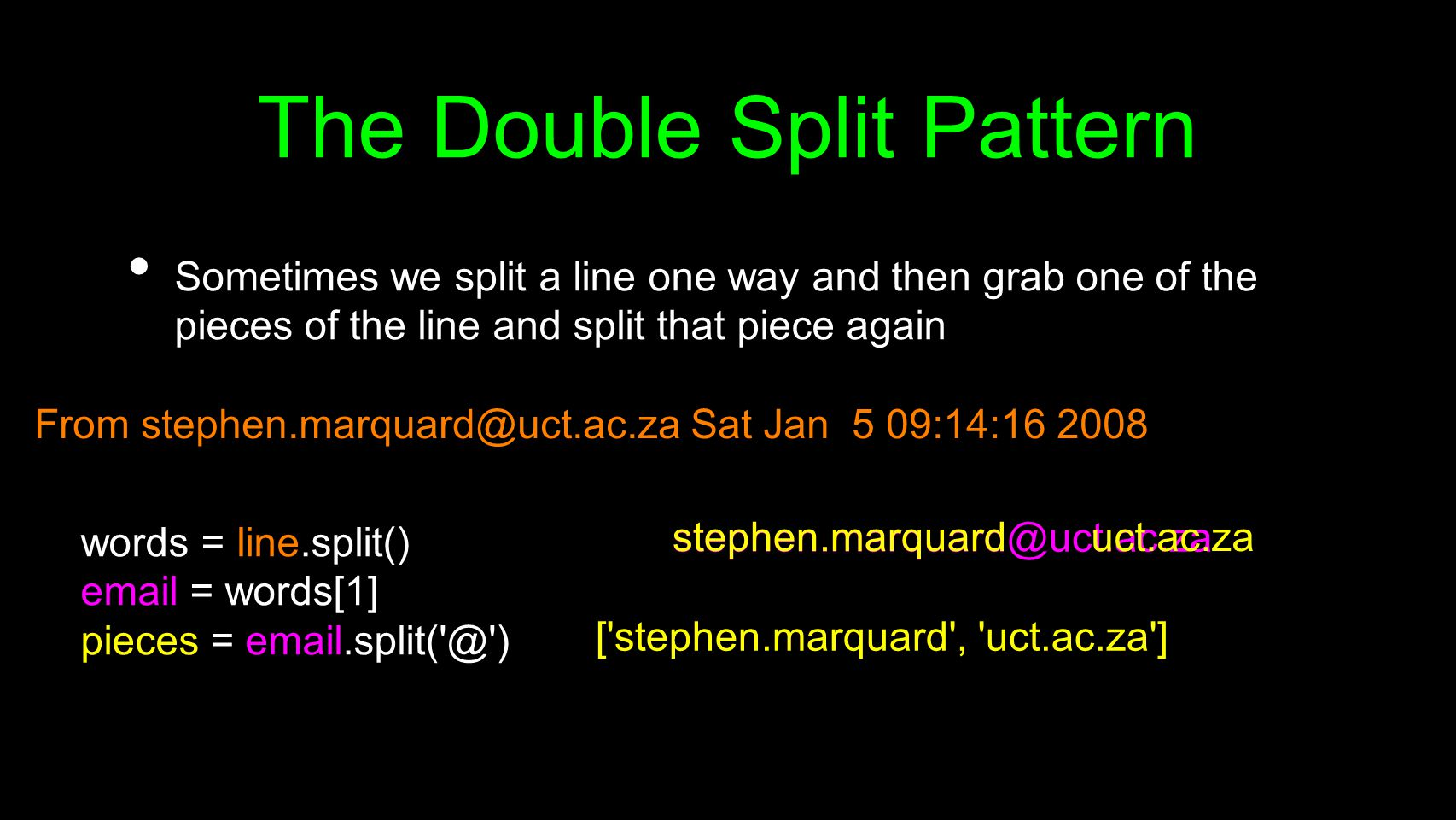 The Double Split Pattern