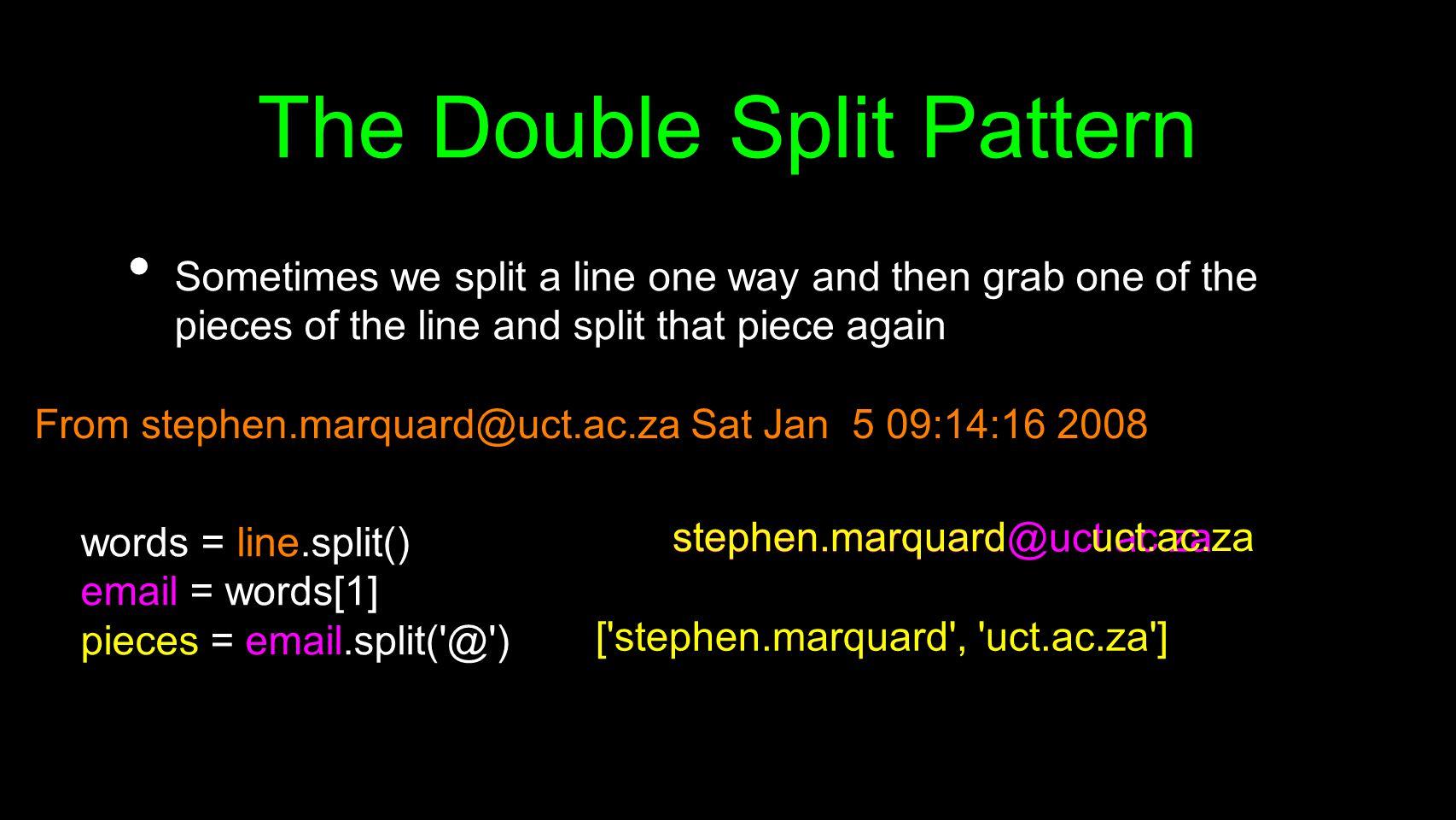 The Double Split Pattern
